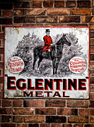 Brickwork Prints - Old Metal Sign Print by Adrian Evans