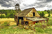 Old Digital Art Originals - Old Mine in Central  City Co by James Steele