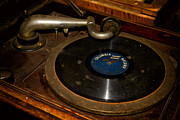 Classic Audio Player Photos - Old Phonograph by Les Palenik