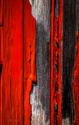 Textures Photo Metal Prints - Old Red Barn Four Metal Print by Bob Orsillo