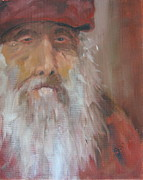 Wise Old Man Paintings - Old Salt Christo at 80 by Susan Richardson