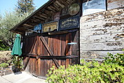 Barn Door Posters - Old Storage Shed At the Swiss Hotel Sonoma California 5D24459 Poster by Wingsdomain Art and Photography