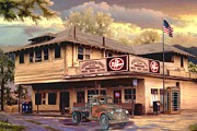 Old Town Digital Art Prints - Old Town Irvine Country Store Print by Ronald Chambers