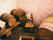 Old Wine Cellar And Kegs Monticello Virginia Fine Art Print by Artist and Photographer Laura Wrede