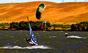Wind Surfing Art Art - On Course by Joseph Coulombe