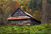 Tennessee Barn Prints - On the Hill Print by Debra and Dave Vanderlaan