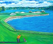 Walden Paintings - One More Practice Swing Before I Go For It by Frank Giordano