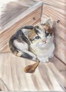 Custom Pet Drawing Prints - One More Step Print by Callie Smith
