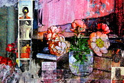Affiche Mixed Media - Only The Flowers by Db Waterman