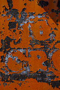 Rust Photo Framed Prints - Orange wall peeling Framed Print by Garry Gay