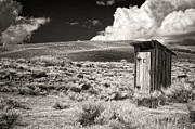 Ghost Town Outhouse Framed Prints - Out on the Range Framed Print by Claudia Kuhn