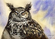 Alfred Ng - Owl watercolor