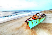 Dan Carmichael - Painted Shipwreck on the Outer Banks