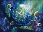 Visionary Artist Painting Prints - Pangaea Print by Kd Neeley