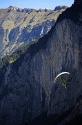 Colleen Williams - Paraglider Landing in Swiss Valley