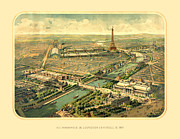 Antique Digital Art Posters - Paris Exposition Poster by Gary Grayson