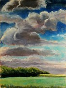 Painted Pastels - Partly Cloudy by Tim  Swagerle