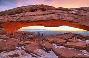 Adam Jewell - Pastel Skies At Mesa Arch