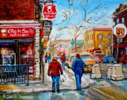 Chez Prints - Pastry Shop And Tea Room Print by Carole Spandau