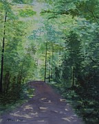 Lush Colors Painting Posters - Path To The River Poster by Martin Howard