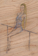 Dancing Girl Drawings Prints - Patience Print by Kenneth Clarke