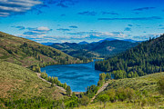Okanogan Digital Art Framed Prints - Patterson Lake in the Summer Framed Print by Omaste Witkowski