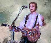 Live Music Framed Prints - Paul McCartney Live Framed Print by Yury Malkov