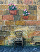 Kitchen Chair Paintings - Peaceful Serenity by JoNeL  Art