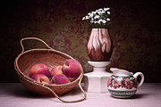 Basket Photos - Peaches and Cream Sill Life by Tom Mc Nemar