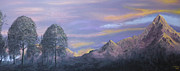 Nature Scene Originals - Peaks at sunset by Lisa Marina