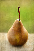 Aged Photo Framed Prints - Pear Framed Print by Darren Fisher