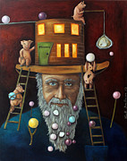 Old Man Fishing Prints - Pearls For Swine Print by Leah Saulnier The Painting Maniac