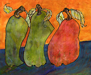 Orange Art Posters - Pears Surrealism Art Poster by Blenda Studio