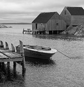 Richard Bryce and Family - Peggys Cove in Black and White