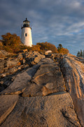 New England Lighthouse Framed Prints - Pemaquid Point Light I Framed Print by Clarence Holmes