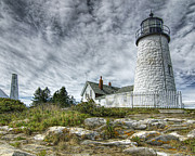 Pemaquid Lighthouse Framed Prints - Pemaquid Point Lighthouse Framed Print by Lee Fortier