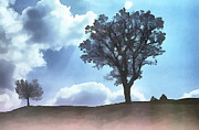 Toast Paintings - People and trees silhouette by Odon Czintos