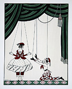 Pleading Framed Prints - Petroushka Framed Print by Georges Barbier