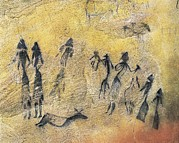 Ballet Dancers Art - Phallic Dance. Mesolithic Art. Cave by Everett