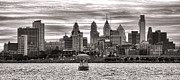 Philadelphia Photo Metal Prints - Philadelphia Silver Metal Print by Olivier Le Queinec