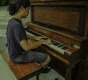 Grand Piano Digital Art - Piano man by W i L L Alexander