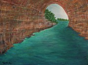 Pictured Paintings - Pictured Rocks MI by Myrtle Joy