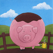 Christy Beckwith - Pig Nursery Art
