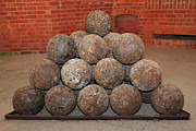 Wingsdomain Art and Photography - Pile of Cannon at San Francisco Fort...