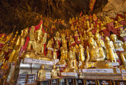 Birma Prints - PINDAYA CAVE with more than 8000 BUDDHA STATUES Print by Juergen Ritterbach
