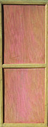 Mahogany Mixed Media Posters - Pink Mahogany Blush Cabinet Door Poster by Asha Carolyn Young