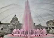 Fountain Digital Art - Pink Obsession by Lori Deiter