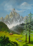 Disney Artist Paintings - Pinnacle  Peaks  by Shasta Eone