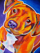 Dawgart Prints - Pit Bull - Harlem Print by Alicia VanNoy Call