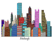 American City Drawings Prints - Pittsburgh Print by Brian Buckley